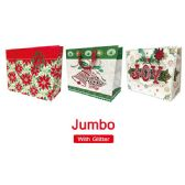 "72 Units of Xmas bag 16x13x58""/Jumbo GLT/HZTL"