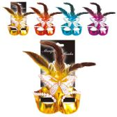 96 Units of Masquerade mask assorted - Masks