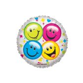 125 Units of One Side Happy Face Balloon - Balloons & Balloon Holder