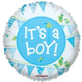 125 Units of One Side Its A Boy Helium Balloon - Balloons & Balloon Holder