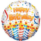 125 Units of Two Side Happy Birthday Balloon - Balloons & Balloon Holder