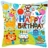 125 Units of Two Side Birthday In Jungle Balloon - Balloons & Balloon Holder