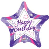 125 Units of Two Side Happy Birthday Juvenile Star Helium Balloon - Balloons & Balloon Holder