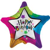 125 Units of Two Sided Happy Birthday Star Balloon - Balloons & Balloon Holder