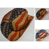 24 Units of Flag Cowboy Hat [Hatband with Studs]