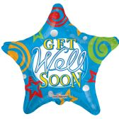 "125 Units of 2-side ""get well"" balloon"