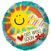 "125 Units of 2-side ""get well soon"" Balloon"