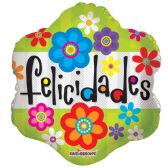 "125 Units of 2-side ""felicidades"" Balloon"