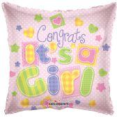 """125 Units of 2-side """"congrats a girl"""" Balloon"""