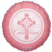 "125 Units of 2-side ""communion"" pink Balloon"