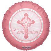 "125 Units of 2-side ""communion"" pink Balloon"