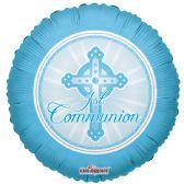 "125 Units of 2-side ""communion"" blue Balloon"