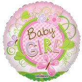 "125 Units of 2-side ""Baby girl"" premium Balloon"