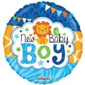 "125 Units of 2-side ""Baby Boy"" premium Balloon"