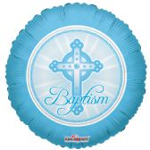 "125 Units of 2-side ""baptism"" blue Balloon"