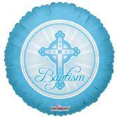 "125 Units of 2-side ""baptism"" blue Balloon"