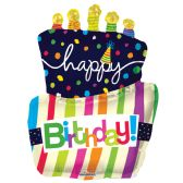 "30 Units of 2-side 36"" ""Happy BIrthday"" shaped Balloon"