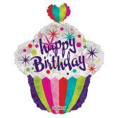 "100 Units of 2-side 22"" ""Happy BIrthday"" shaped Balloon"