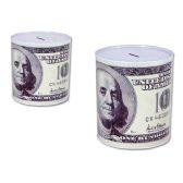 48 Units of Coin Bank, Saving TinCoin Bank, Saving Tin, US $100 Bill - Coin Holders/Banks/Counter