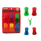 72 Units of 6pc Multipurpose Magnetic Clips - Refrigerator Magnets