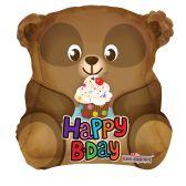 "100 Units of 2-side 18"" ""Happy BIrthday"" shaped Balloon"