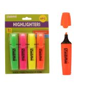 96 Units of 4pc Highlighters Yellow, Pink, Orange, Green