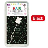 96 Units of Hair Beads In Black - Hair Accessories