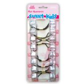 96 Units of Hair Bead Clear - PonyTail Holders