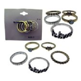 36 Units of Assorted Multiple Ring Set