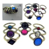 36 Units of Gold-tone assorted multiple ring set