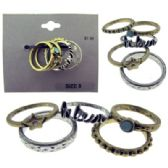 36 Units of multiple assorted ring set