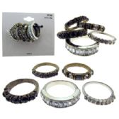 36 Units of Multiple gold-tone and silver-tone ring set