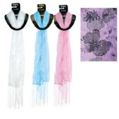 96 Units of Scarf Assorted Colors 20x60""
