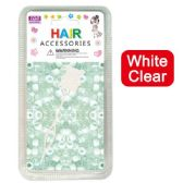 96 Units of Hair Beads White Clear