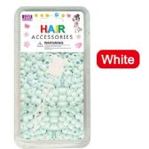 96 Units of Hair Beads White
