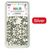 96 Units of Hair Beads Silver