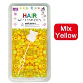96 Units of Hair Beads Mix Yellow