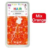 144 Units of Hair Beads Mix Orange - Hair Accessories