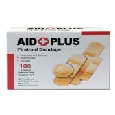 96 Units of 100 Count bandage Assorted shapes - First Aid / Band Aids