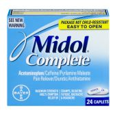 6 Units of Midol Complete 25 Count - Pain and Allergy Relief