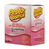 5 Units of Pepto bismol 25 count - Pain and Allergy Relief