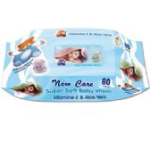 72 Units of 80 Count baby wipes/blue