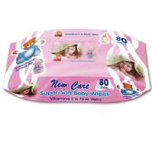 72 Units of 80 Count baby wipes/pink