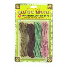 72 Units of Imitation leather cords - Craft Kits