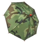 36 Units of Summer Umbrella Hat Camo Print - Umbrellas & Rain Gear