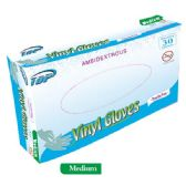 48 Units of 30 Pack vinyl glove/Medium