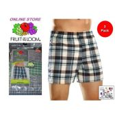 24 Units of FRUIT OF THE LOOM 3 PACK MEN'S LOW RISE BOXER SHORTS