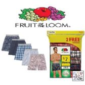 36 Units of FRUIT OF THE LOOM 7 PACK MEN BOXER SHORTS (NEW SIZING)