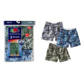 24 Units of FRUIT OF THE LOOM CAMOUFLAGE 3 PACK MEN'S BOXER SHORTS