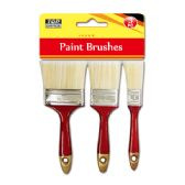 96 Units of 3 Piece Paint Brush - Paint and Supplies